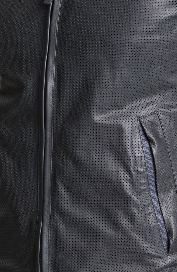 Alternate Image 3  - Z Zegna Hooded Leather Jacket