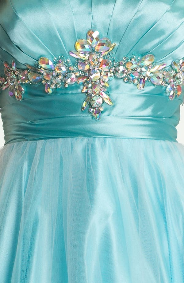 Alternate Image 3  - Sean Collection 'Princess' Embellished Satin & Tulle Ballgown (Online Exclusive)