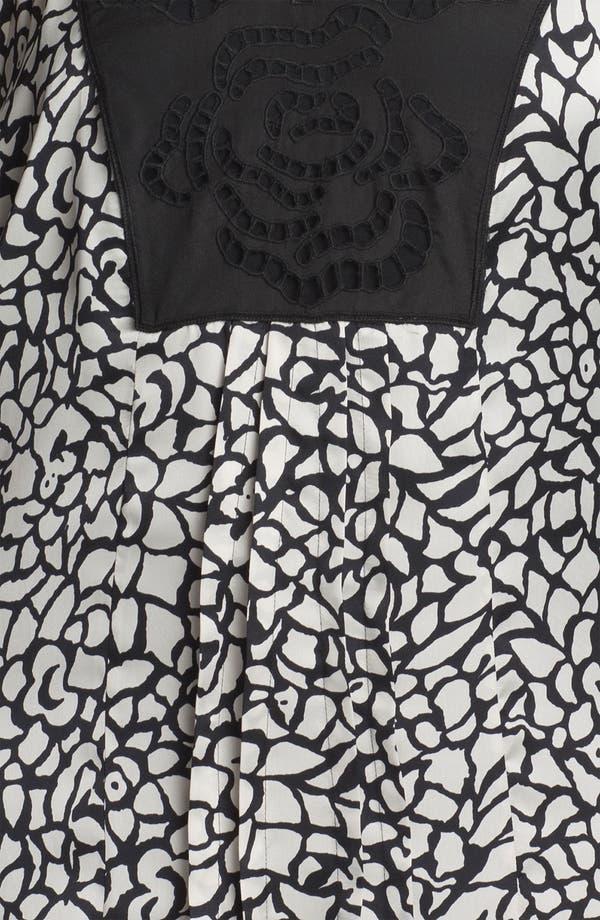 Alternate Image 3  - Daniel Rainn Crochet Front Print Blouse (Plus Size) (Online Only)