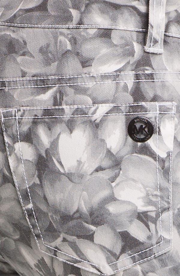 Alternate Image 3  - MICHAEL Michael Kors Wildflower Print Skinny Ankle Jeans
