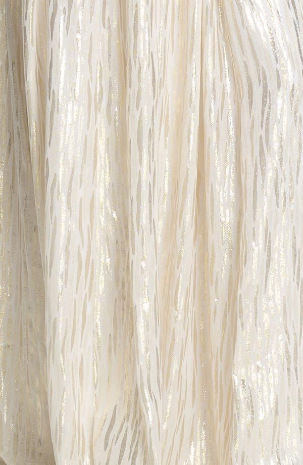Alternate Image 3  - ERIN erin fetherston Shirred Metallic Chiffon Gown