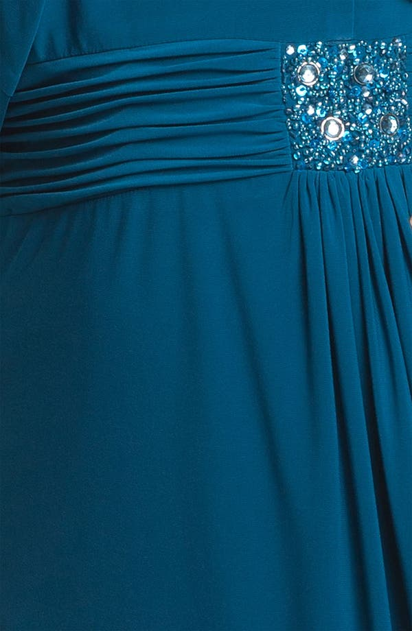 Alternate Image 3  - Alex Evenings Embellished Jersey Dress & Bolero (Plus Size)