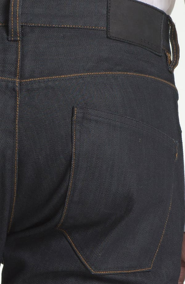 Alternate Image 4  - Theory 'Raffi P. Gunstock' Straight Leg Jeans (Indigo)