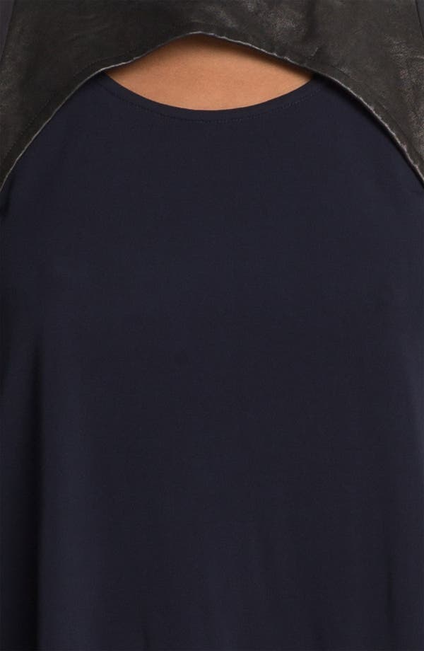 Alternate Image 5  - Cut25 Leather & Matte Jersey Top