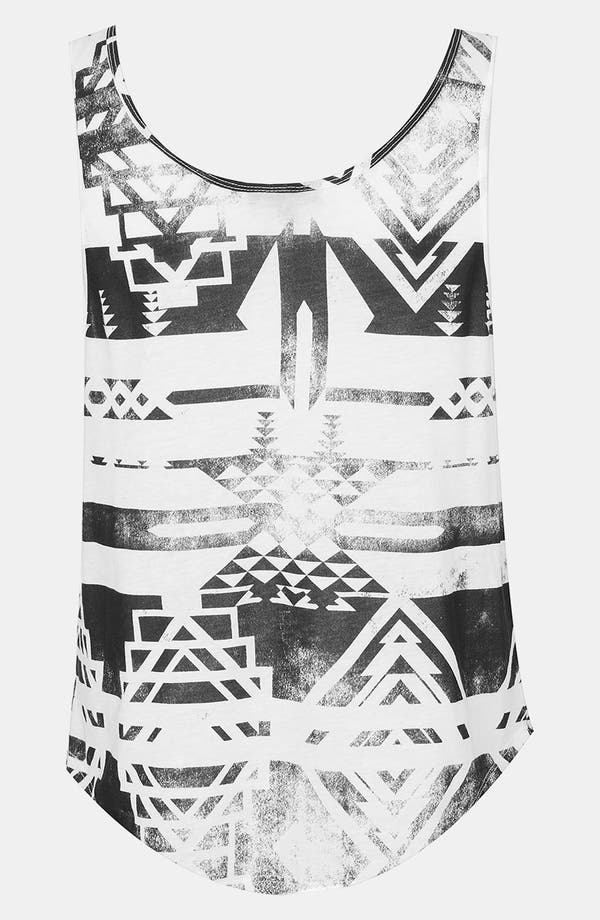 Alternate Image 2  - Topshop 'Worn Shapes' Print Tank