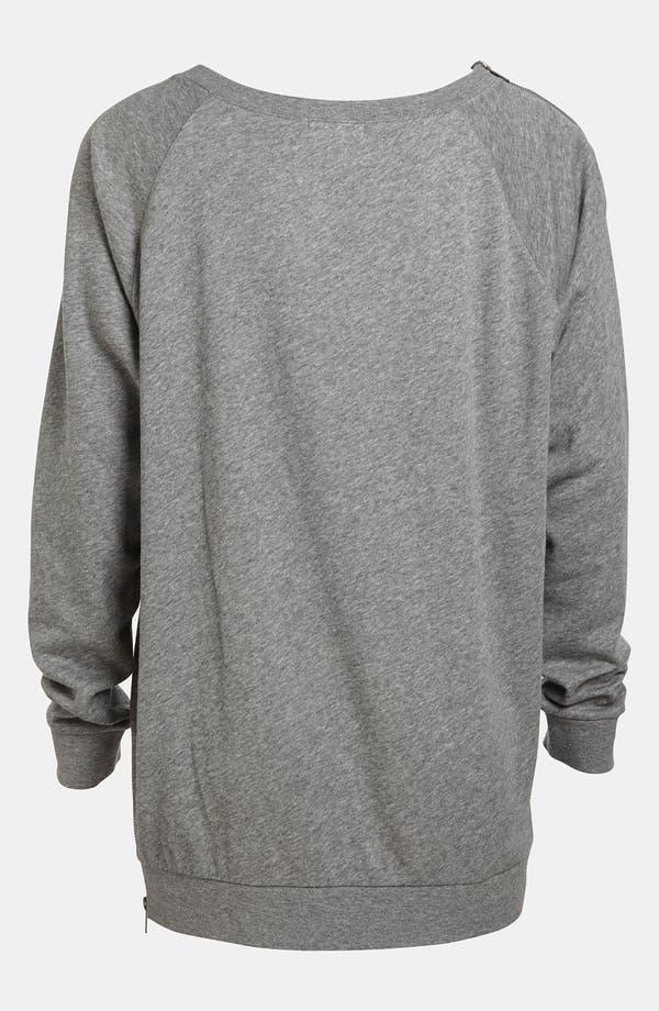 Alternate Image 2  - Leith Zip Shoulder Sweatshirt