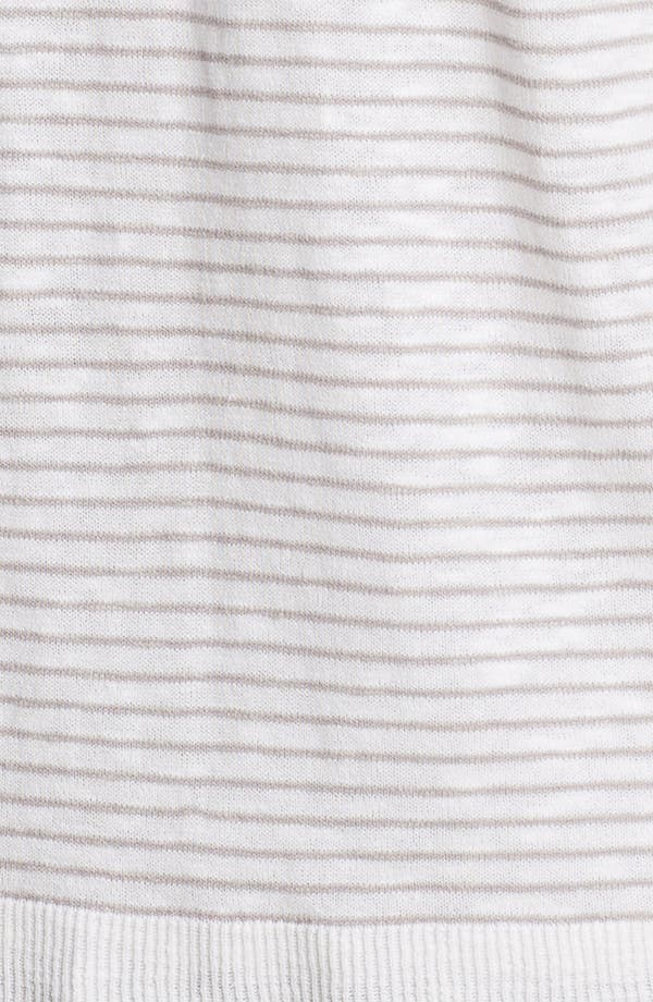 Alternate Image 3  - Eileen Fisher Draped Stripe Cardigan (Plus Size)