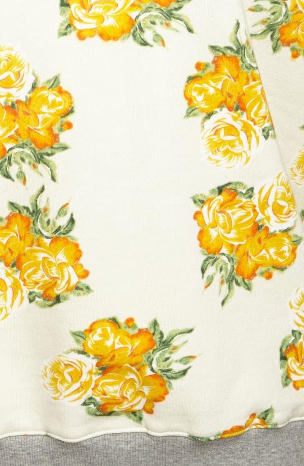 Alternate Image 3  - Mural Floral Sweatshirt