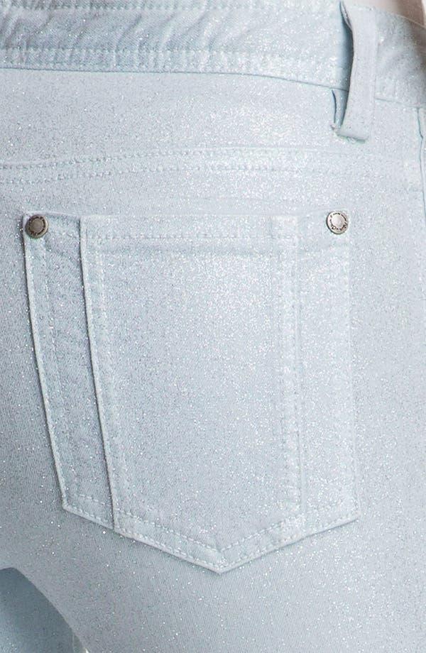 Alternate Image 7  - Alice + Olivia Glitter Skinny Stretch Jeans