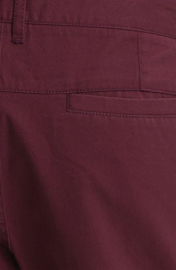 Alternate Image 5  - Topman Turn-Up Chino Shorts