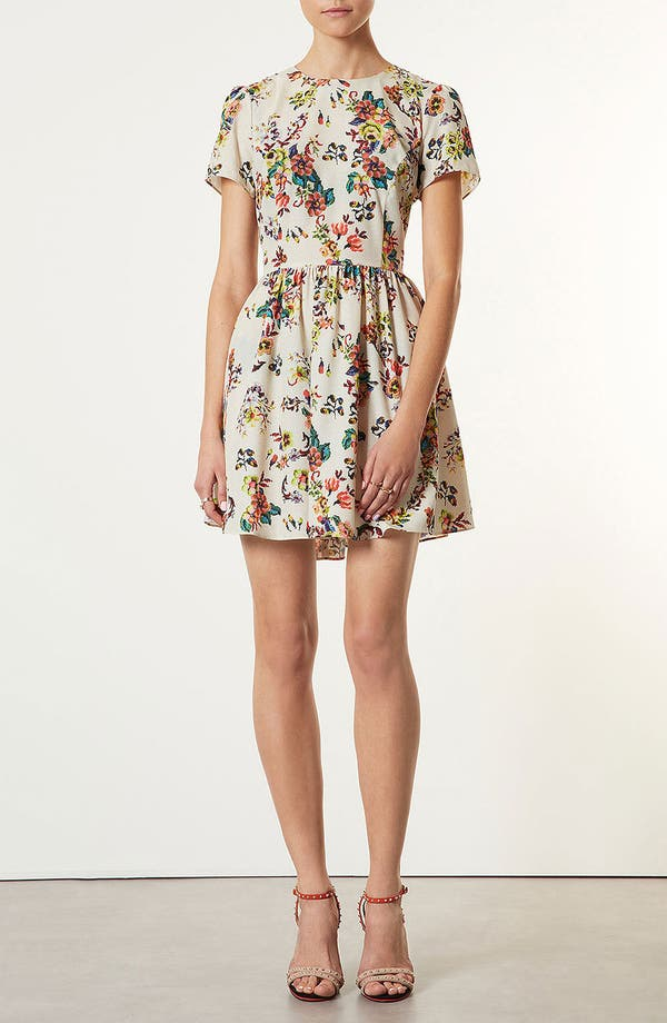 Alternate Image 1 Selected - Topshop 'Florence' Sampler Print Dress