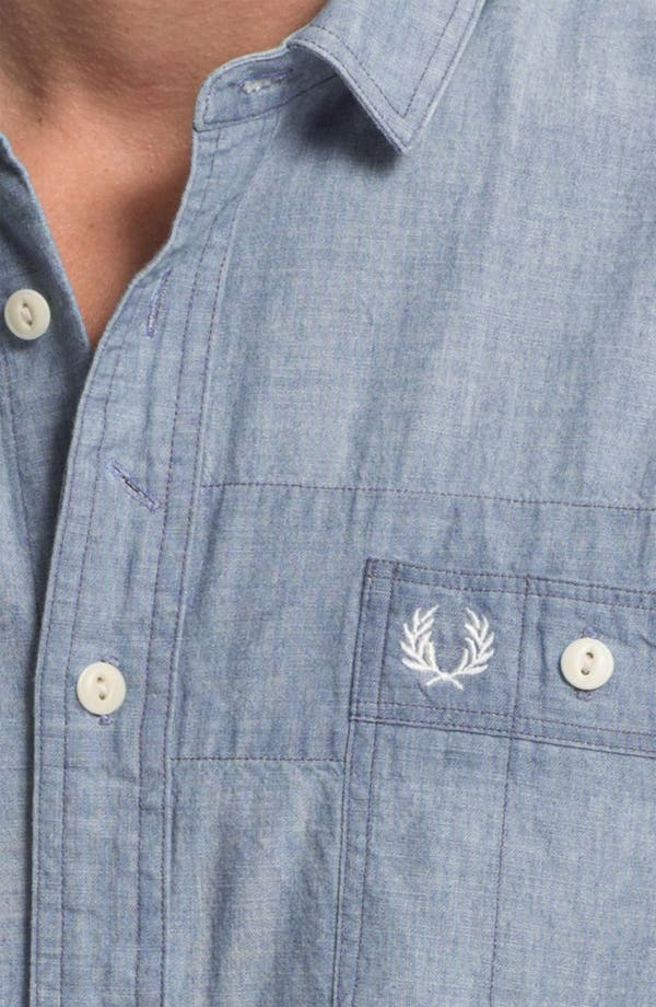 Alternate Image 3  - Fred Perry Trim Fit Sport Shirt