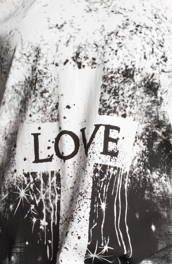 Alternate Image 3  - Haute Society 'Love' Twist Cutout Muscle Tee (Juniors)