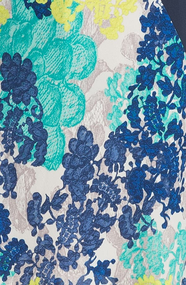 Alternate Image 3  - BCBGMAXAZRIA Mixed Print & Lace Sheath Dress