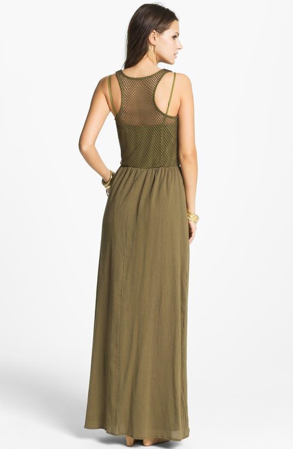 Alternate Image 2  - Way-In Maxi Dress (Juniors)