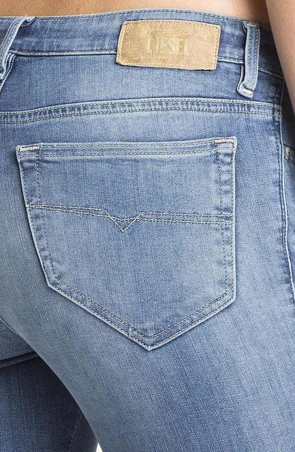 Alternate Image 3  - DIESEL® 'Skinzee' Stretch Skinny Jeans (Light Denim)