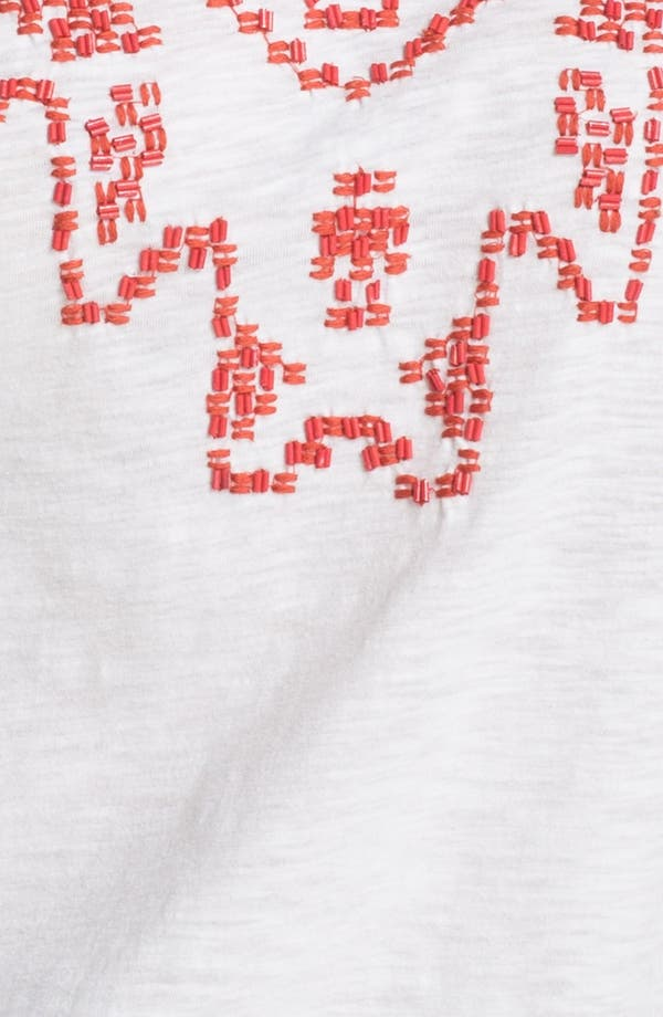Alternate Image 3  - Lucky Brand 'Tanya' Beaded Cotton Tee (Plus)