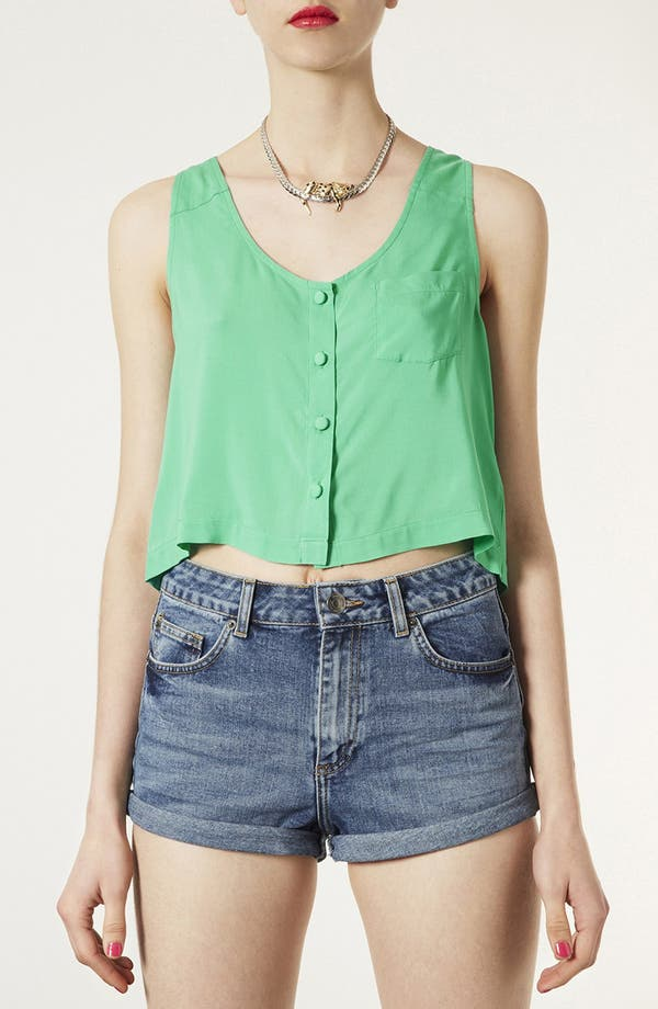 Alternate Image 1 Selected - Topshop Cutout Button Front Tank