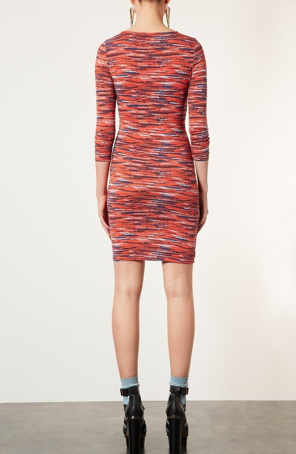 Alternate Image 2  - Topshop Stripe Notched Body-Con Dress