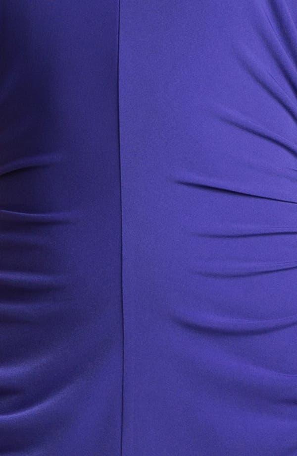 Alternate Image 3  - Ivy & Blu Ruched Cap Sleeve Jersey Dress