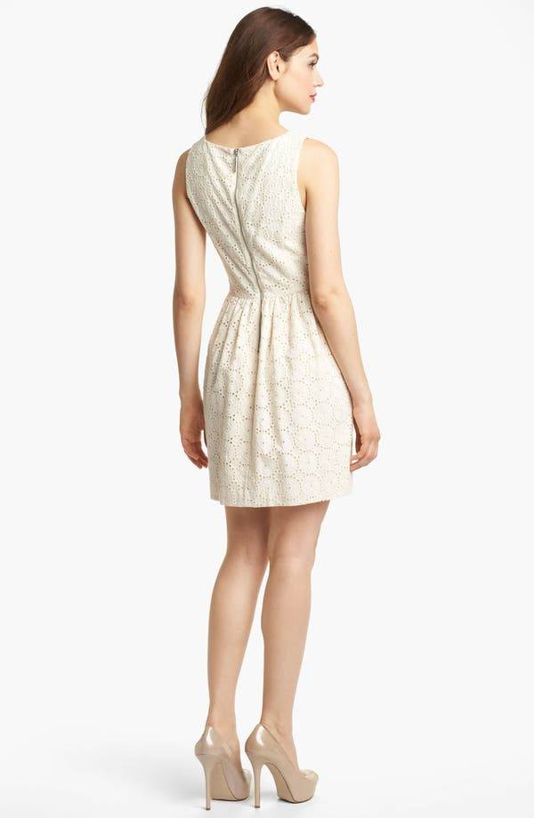 Alternate Image 2  - Kensie Embroidered Eyelet Dress