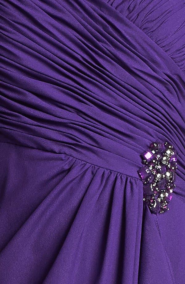 Alternate Image 3  - Patra Embellished Ruched Crepe Gown