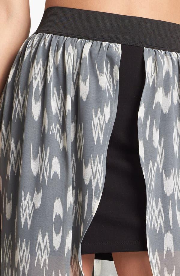 Alternate Image 3  - Mimi Chica Chiffon Overlay Maxi Skirt (Juniors)