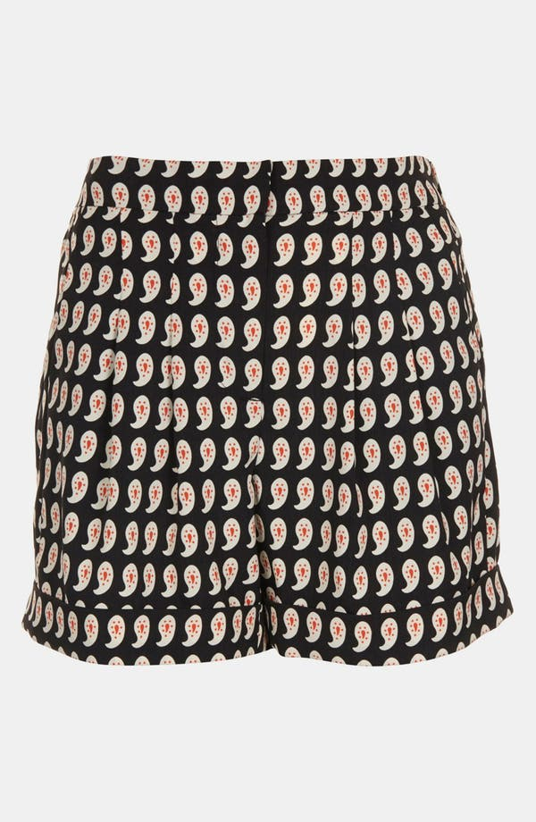 Alternate Image 3  - Topshop Paisley Print Pleated Shorts