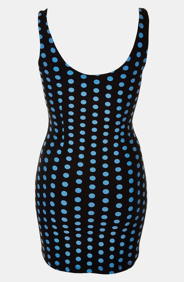 Alternate Image 2  - Topshop Polka Dot Body-Con Dress (Petite)