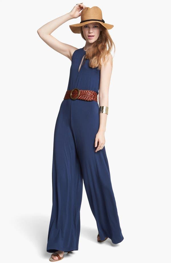 Main Image - BB Dakota Slit Back Jersey Jumpsuit