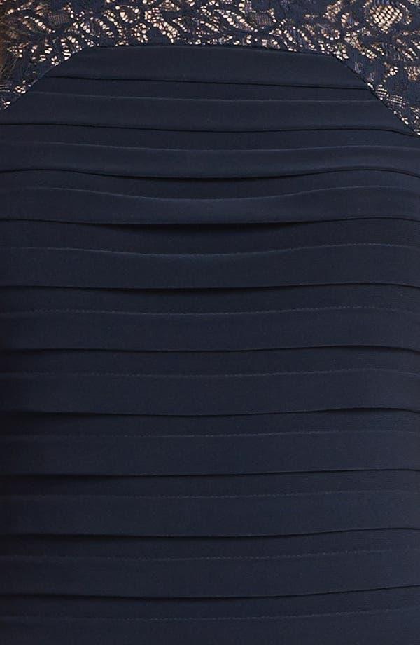 Alternate Image 3  - Adrianna Papell Lace Yoke Shutter Pleat Sheath Dress