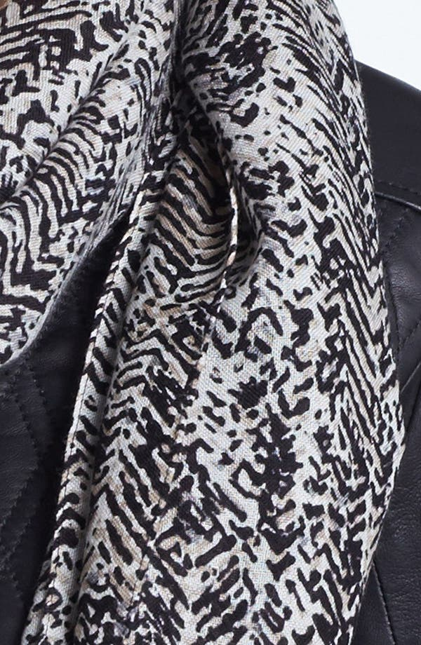 Alternate Image 3  - MICHAEL Michael Kors Herringbone Print Wool Scarf