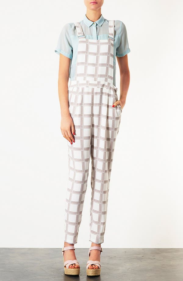 Alternate Image 1 Selected - Topshop Checkered Jumpsuit