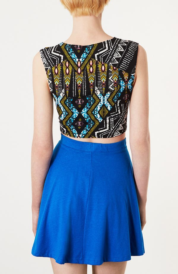 Alternate Image 2  - Topshop Aztec Crop Tee
