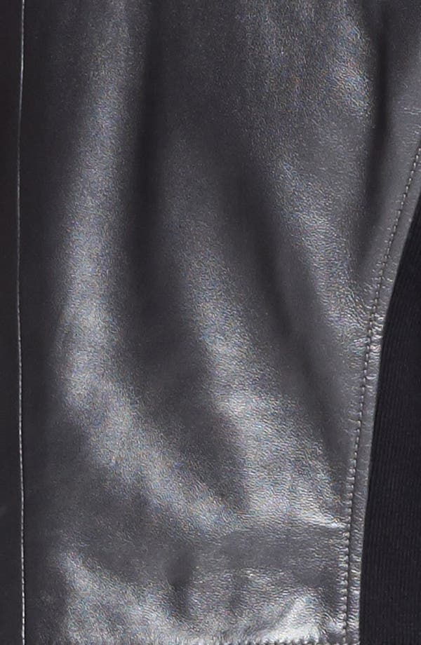 Alternate Image 3  - Trouvé Metallic Leather Biker Jacket