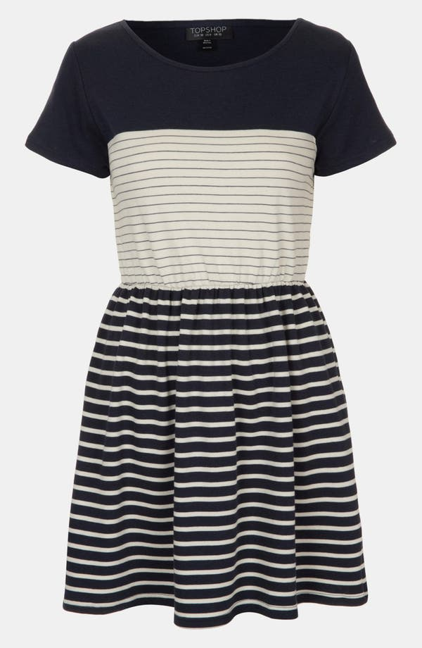 Alternate Image 1 Selected - Topshop Stripe Skater Dress