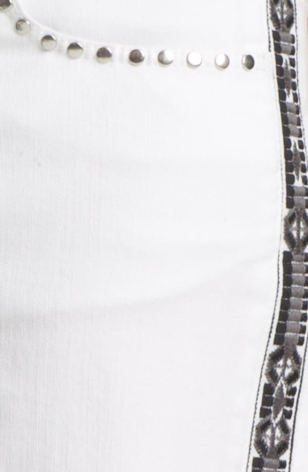 Alternate Image 3  - Two by Vince Camuto Embroidered Studded Cutoff Denim Shorts (Ultra White)