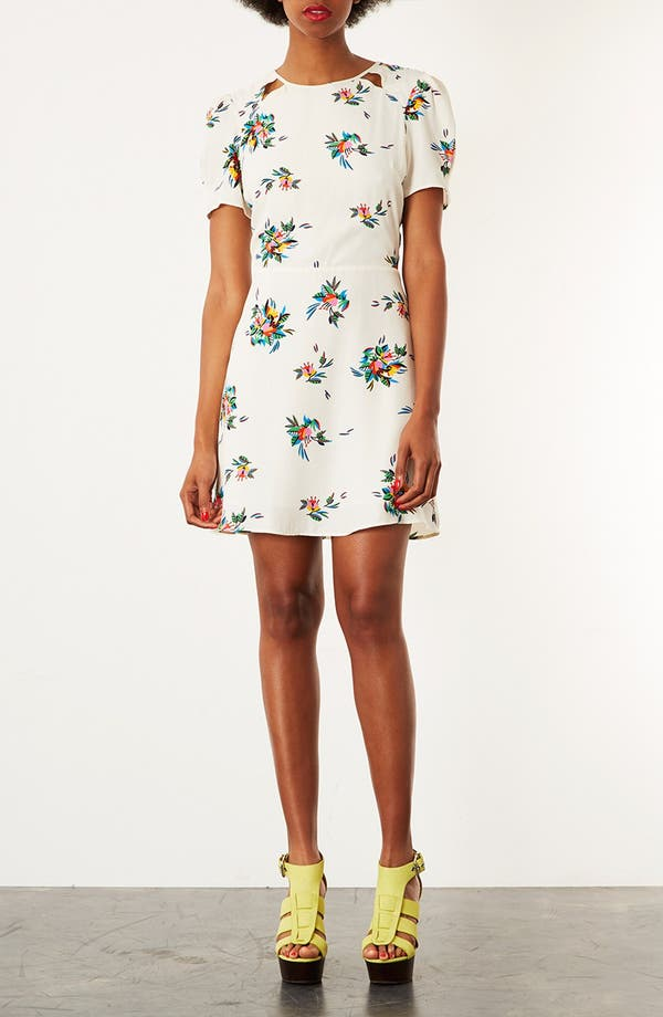 Alternate Image 1 Selected - Topshop Floral Tea Dress