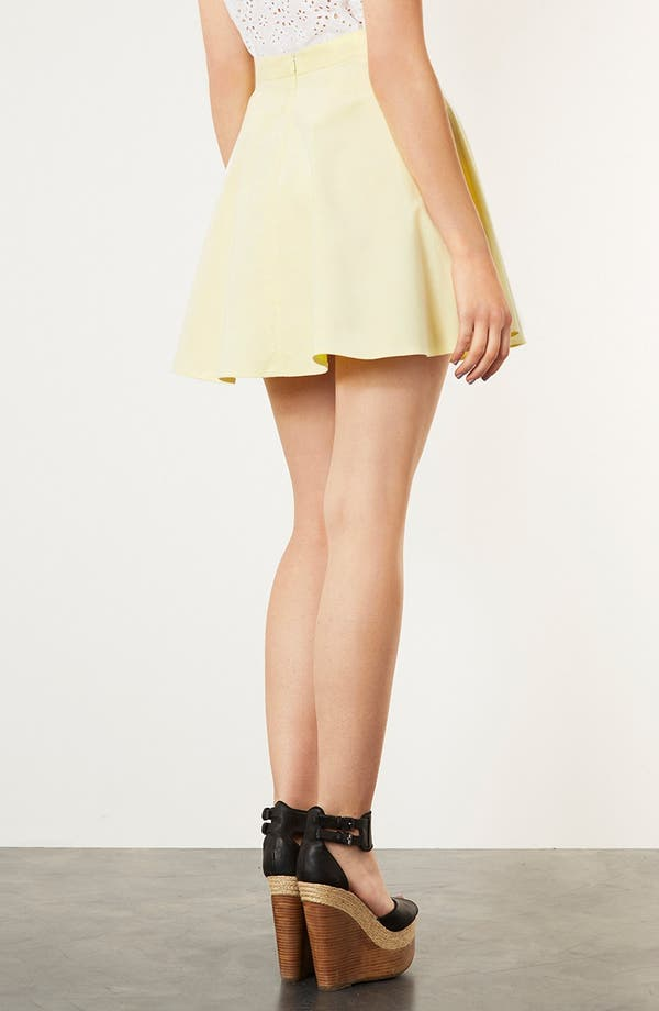 Alternate Image 2  - Topshop Corduroy Skater Skirt