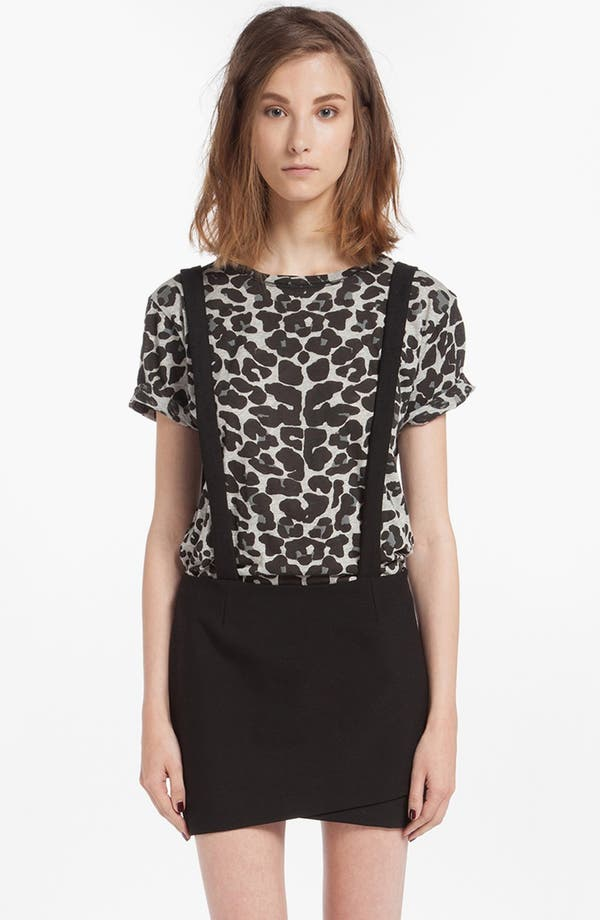 Alternate Image 1 Selected - maje 'Dinard' Faux Wrap Miniskirt