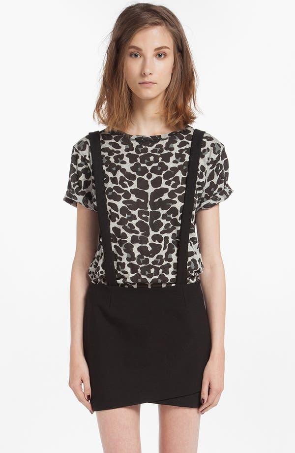 Main Image - maje 'Dinard' Faux Wrap Miniskirt