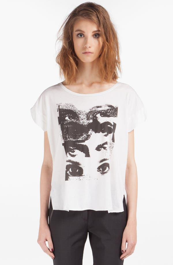Main Image - maje 'Dame' Graphic Cotton Tee