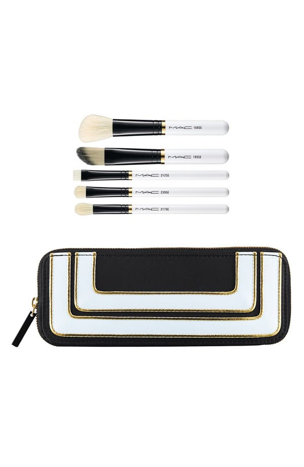 Main Image - M·A·C 'Stroke of Midnight' Essentials Brush Kit (Limited Edition) ($142 Value)