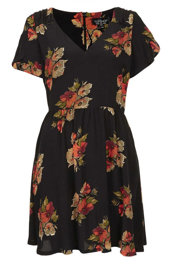 Alternate Image 3  - Topshop 'Autumn Floral' Tea Dress