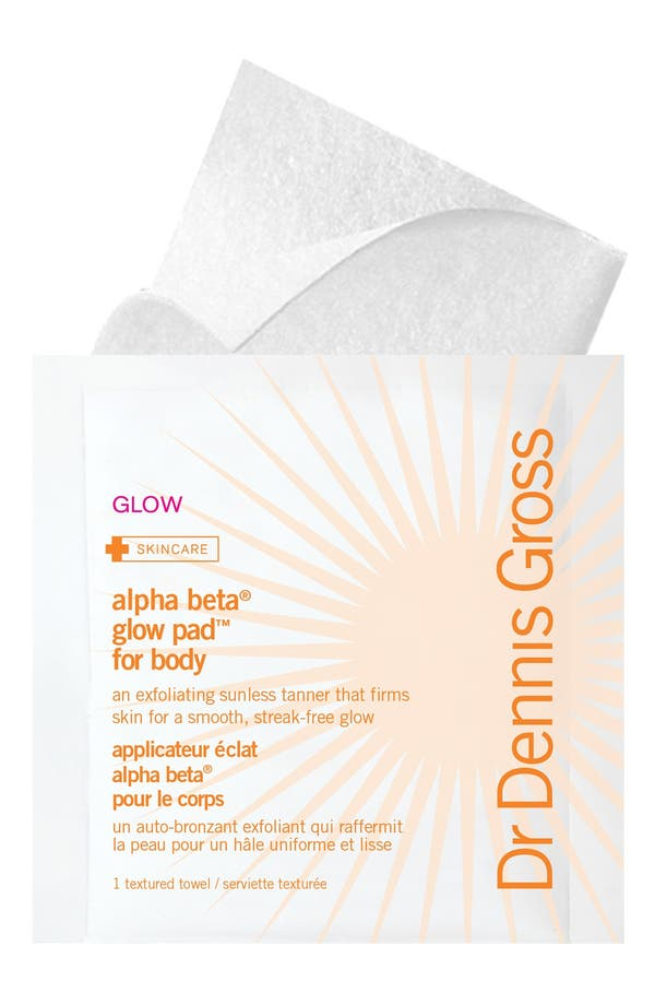 Alternate Image 1 Selected - Dr. Dennis Gross Skincare 'Alpha Beta® Glow Pads' Exfoliating Anti-Aging Self-Tanner for Body