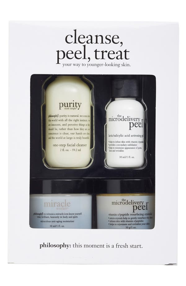 Alternate Image 2  - philosophy 'cleanse, peel, treat' trial kit ($71 Value)