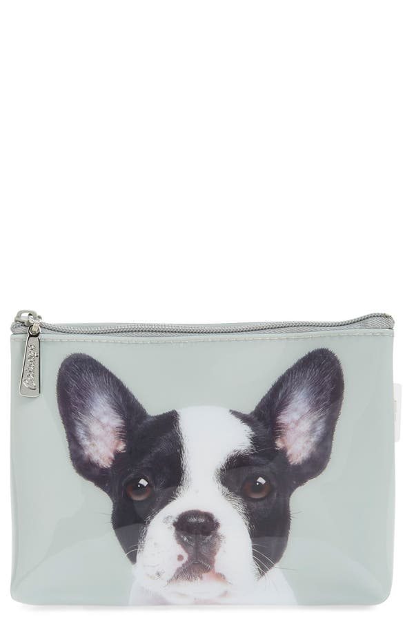 Main Image - Catseye London 'Boston Terrier' Cosmetics Case