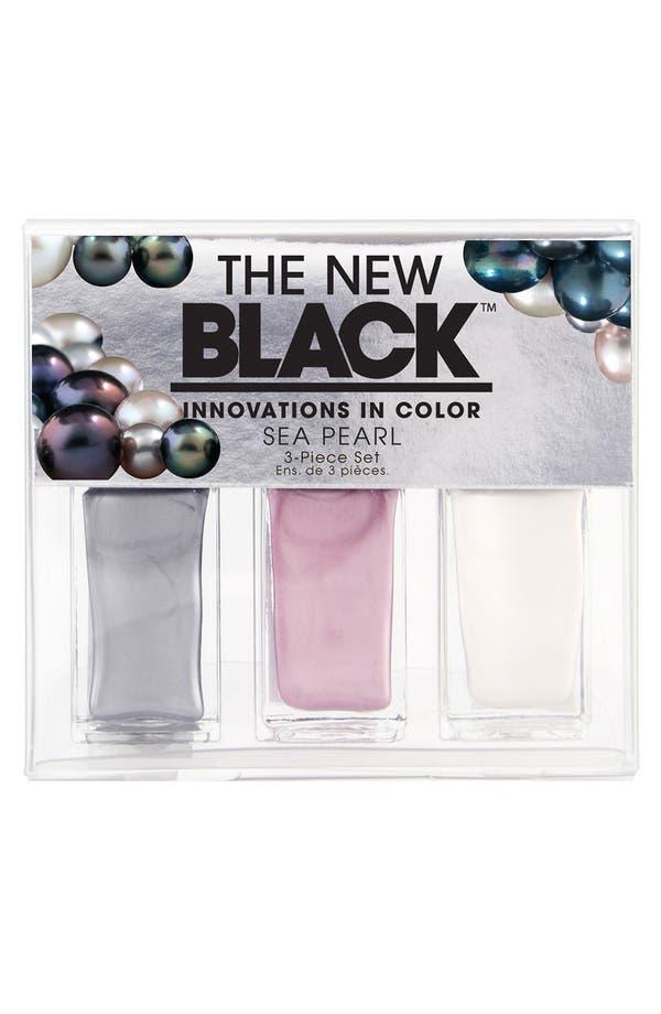 Alternate Image 1 Selected - THE NEW BLACK 'Sea Pearl' Nail Polish 3-Piece Set