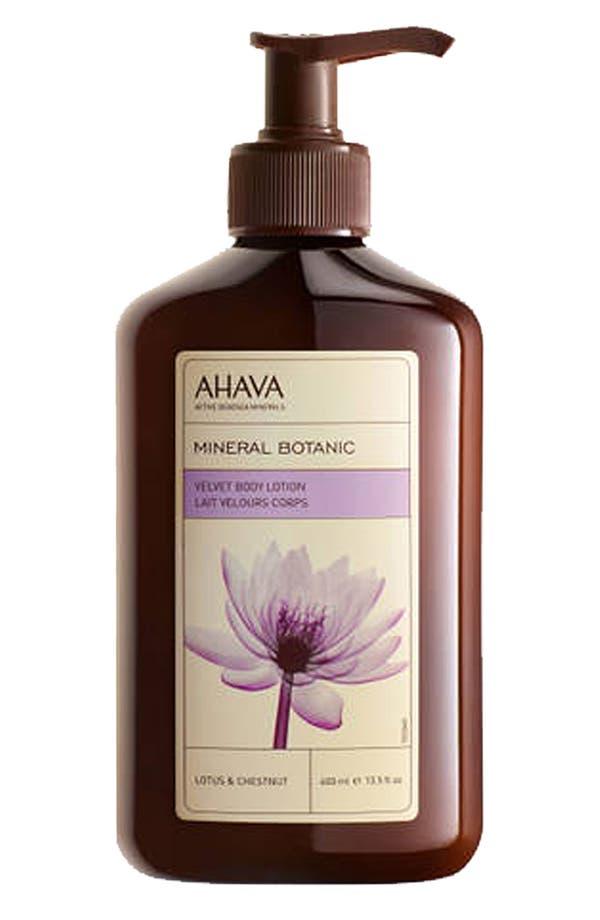 Main Image - AHAVA ' Mineral Botanic Lotus & Chestnut' Velvet Body Lotion