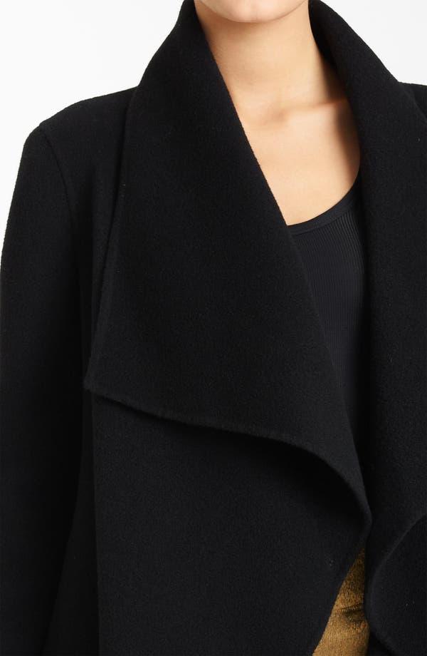 Alternate Image 3  - Donna Karan Collection Belted Funnel Neck Coat